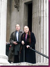 John and Richard in front of the National Gallery, London