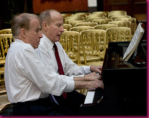 Richard and John Contiguglia rehearsing in the Barry Room, 2008
